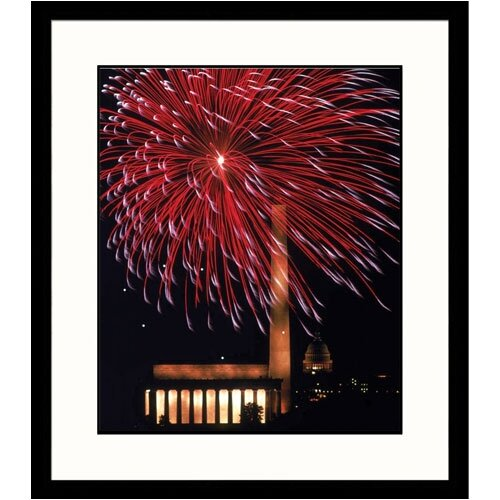 Cityscapes 'Washington DC Fireworks' by Gary McVicker Framed Photographic Print