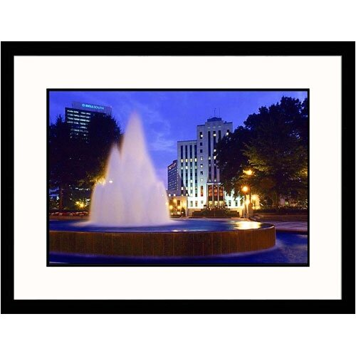 Great American Picture Cityscapes 'City Hall and Bell South in Birmingham' by Ralph Krubner Framed Photographic Print