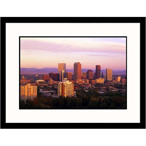Great American Picture Cityscapes 'Dawn in Denver, Colorado' by Walter Bibikow Framed Photographic Print