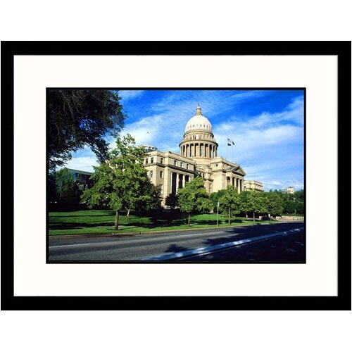 Great American Picture Cityscapes 'State Capitol in Boise Idaho' by Mark Gibson Framed Photographic Print