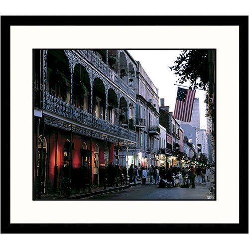 Great American Picture Cityscapes Bourbon Street New Orleans Framed Photographic Print