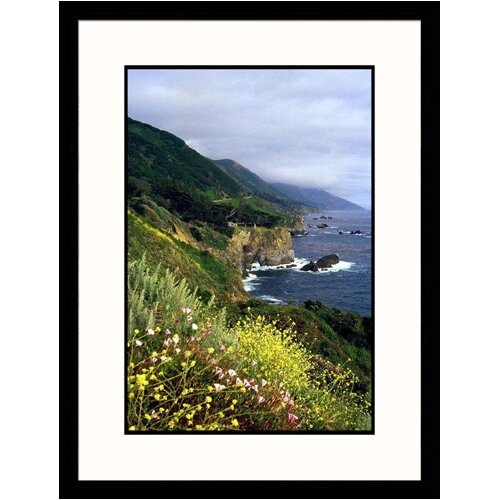 Seascapes 'Pacific Ocean View From Highway' by Mike Hipple Framed Photographic Print