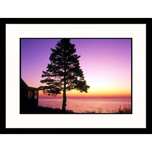 Great American Picture Seascapes 'View to Mount Desert Island' by Steve Dunwell Framed Photographic Print