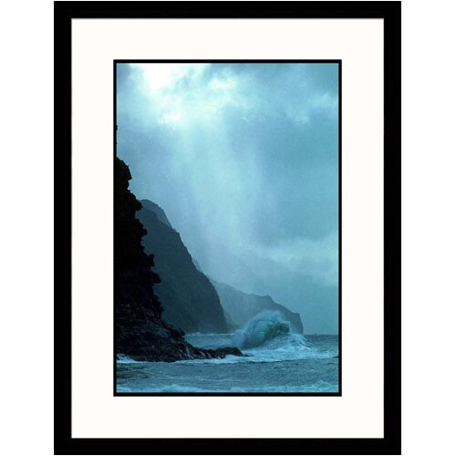 Seascapes 'Na Pali Coast, Hawaii' by Rick Schafer Framed Photographic Print