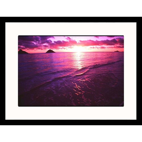 Great American Picture Seascapes 'Sunrise in Hawaii' by Tomas del Amo Framed Photographic Print