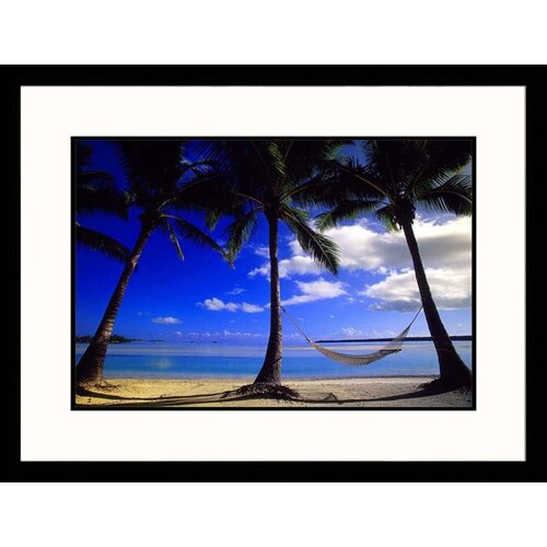Seascapes 'Palm and Hammock' by Walter Bibikow Framed Photographic Print