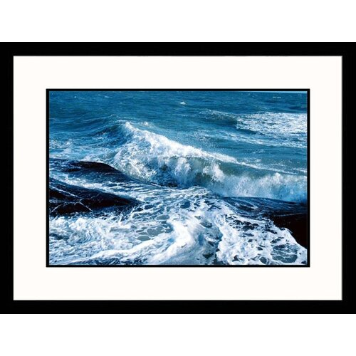 Great American Picture Seascapes Crashing Waves Framed Photographic Print