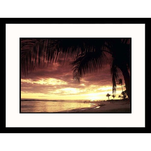 Great American Picture Seascapes 'Hawaii Sunset' by Elfi Kluck Framed Photographic Print