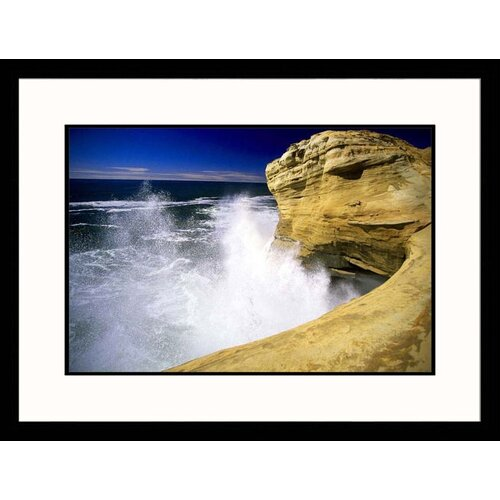 Great American Picture Seascapes 'Crashing Surf, Cape Kiwanda, Oregon' by Donald Higgs Framed Photographic Print