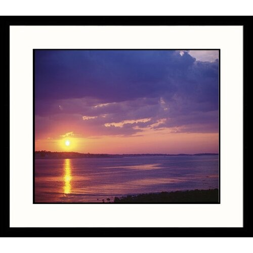 Great American Picture Seascapes Sunset Framed Photographic Print