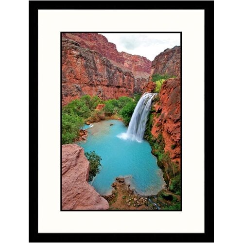 Landscapes 'Havasupai Canyon, Travertine Pools' by Yvette Cardozo Framed Photographic Print