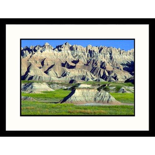 Landscapes 'Eroding Terrain, Badlands - New Mexico, South Dakota' by Craig J Brown Framed ...