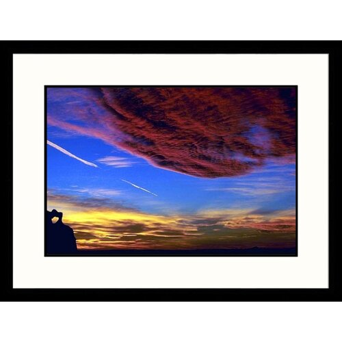 Landscapes 'Sunset Over Badlands New Mexico, South Dakota' by Allen Russell Framed Photographic ...