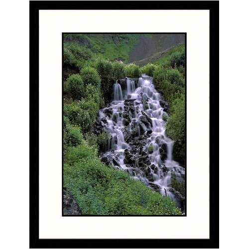 Great American Picture Landscapes 'Waterfall, Gold Creek, Colorado' by Don Grall Framed Photographic Print
