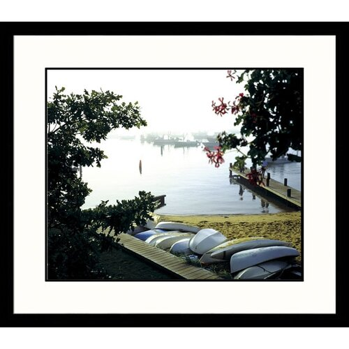 Great American Picture Landscapes 'Boats in Fog' by Mark Gibson Framed Photographic Print