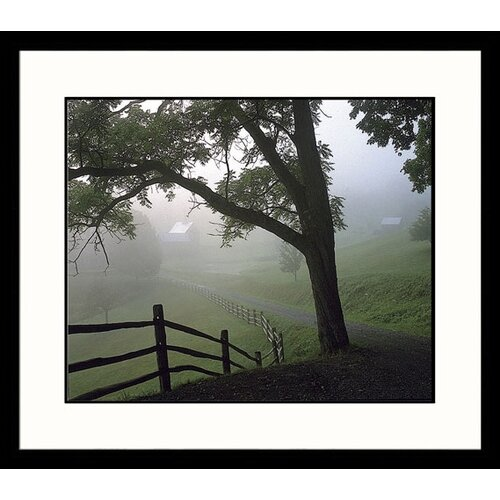 Great American Picture Landscapes Farm and Fog Framed Photographic Print