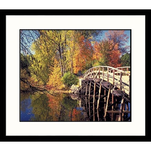 Landscapes Concord Bridge Fall Framed Photographic Print