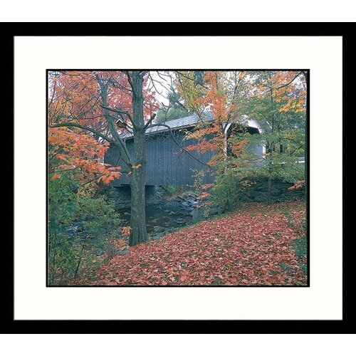 Great American Picture Landscapes Covered Bridge Framed Photographic Print