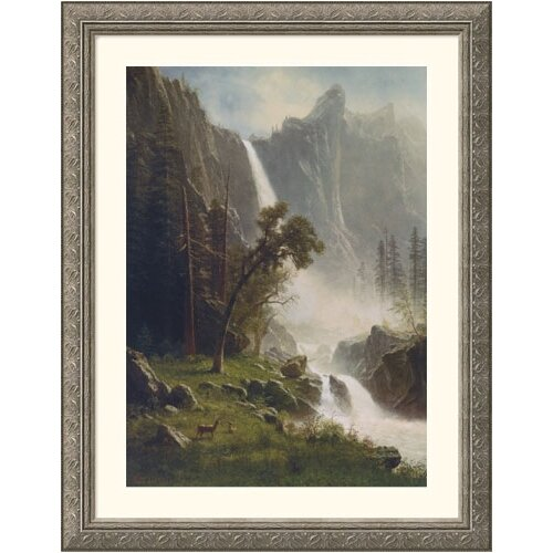 Museum Reproductions 'Bridal Veil Falls, Yosemite' by Albert Bierstadt Framed Photographic Print