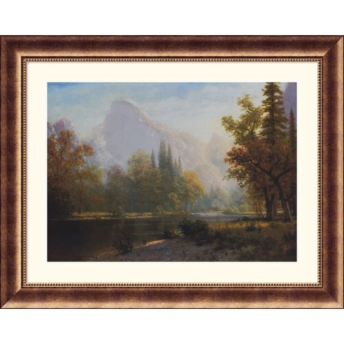 Great American Picture Museum Reproductions 'Half Dome, Yosemite' by Albert Bierstadt Framed Photographic Print