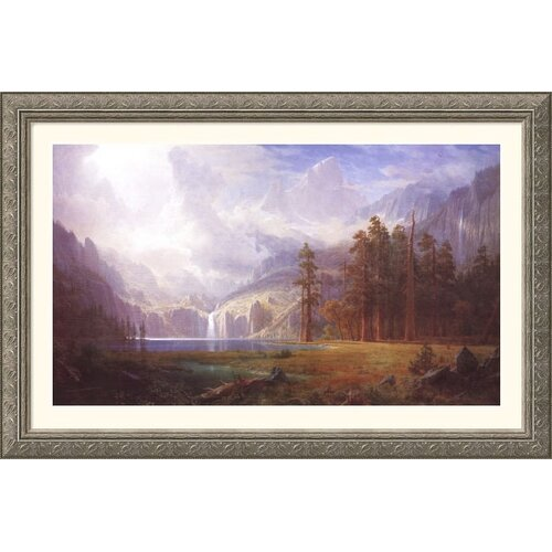 Great American Picture Museum Reproductions 'Mt. Whitney' by Albert Bierstadt Framed Photographic Print