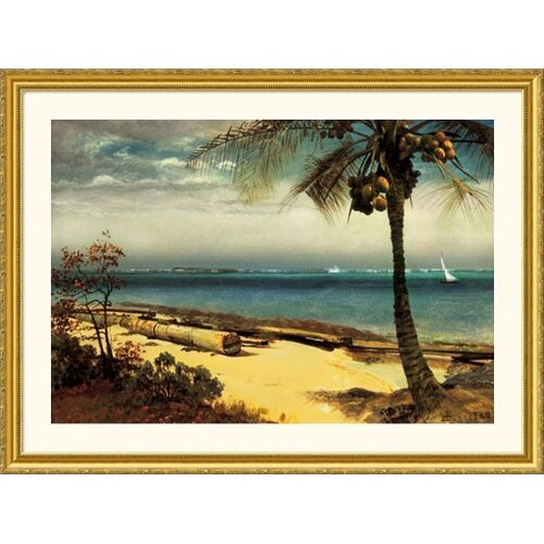 Museum Reproductions 'Tropical Coast' by Albert Bierstadt Framed Photographic Print