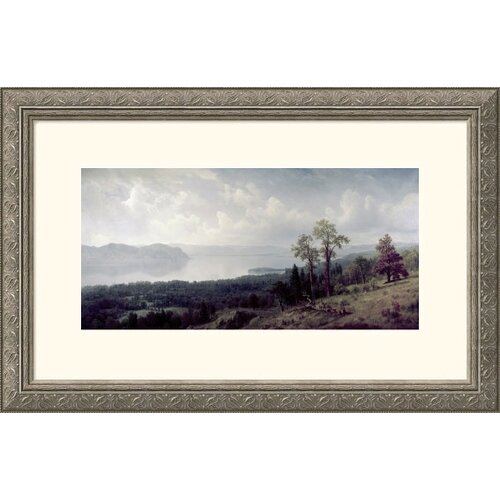 Great American Picture Museum Reproductions 'View of the Hudson Looking Across the Tappanzee' by Albert Bierstadt Framed Photographic Print