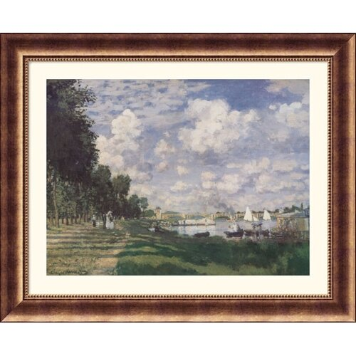 Great American Picture Museum Reproductions 'Bassin at Argenteuil, 1874' by Claude Monet Framed Photographic Print