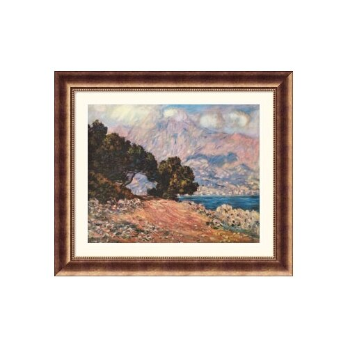 Great American Picture Museum Reproductions 'Cape Martin, Near Menton, 1844' by Claude Monet Framed Photographic Print