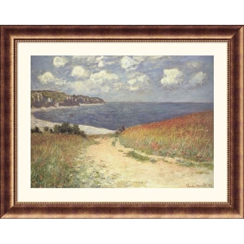 Great American Picture Museum Reproductions 'Chemin Dans Les Bles a Pourville' by Claude Monet Framed Photographic Print
