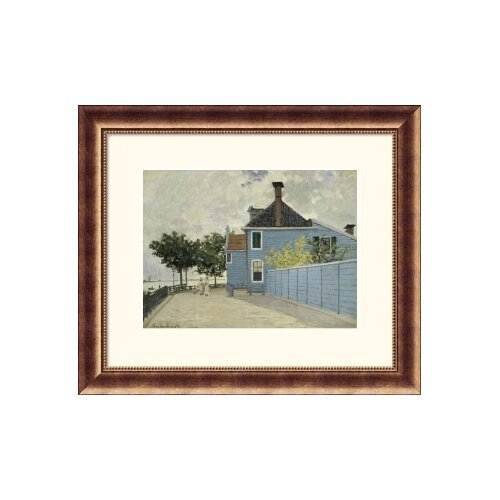 Museum Reproductions 'La Maison Weue, Zaandau' by Claude Monet Framed Photographic Print