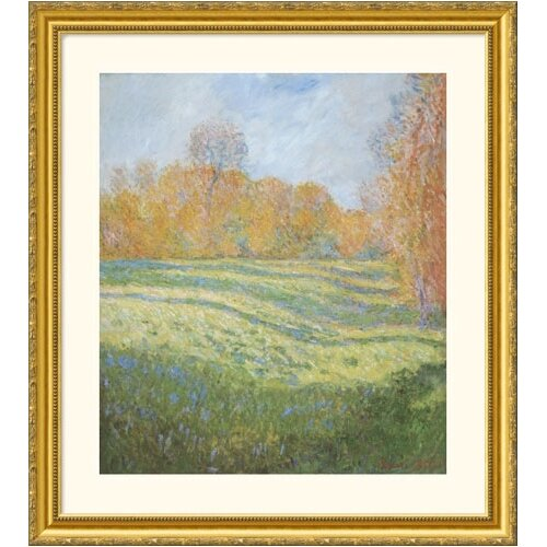 Great American Picture Museum Reproductions 'Meadow at Giverny' by Claude Monet Framed Photographic Print