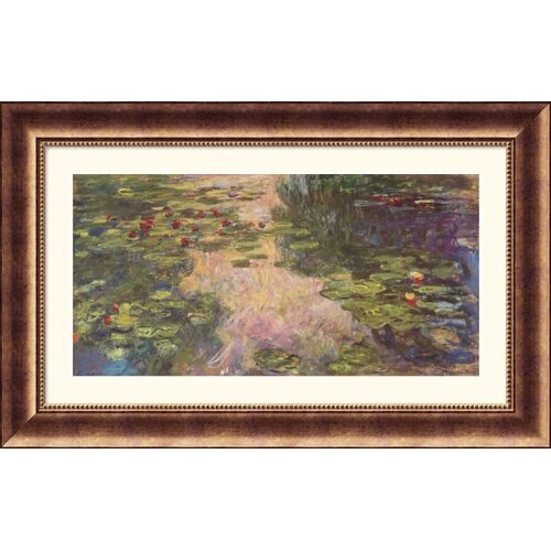 Great American Picture Museum Reproductions 'The Water Lily Pond, 1918 II' by Claude Monet Framed Painting Print