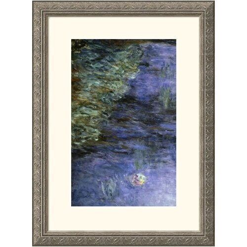 Museum Reproductions 'Water Lilies and Nymphaeas' by Claude Monet Framed Painting Print