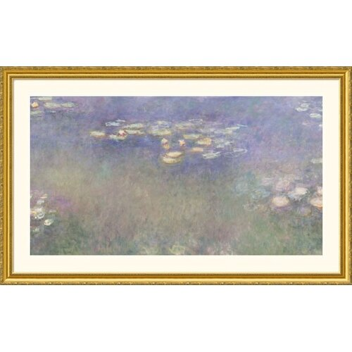 Great American Picture Museum Reproductions 'Water Lilies (Nympheas) 1916-26' by Claude Monet Framed Painting Print