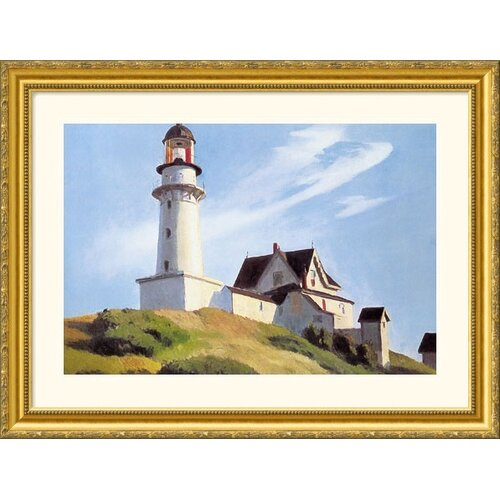 Museum Reproductions 'Lighthouse at Two Lights' by Edward Hopper Framed Painting Print