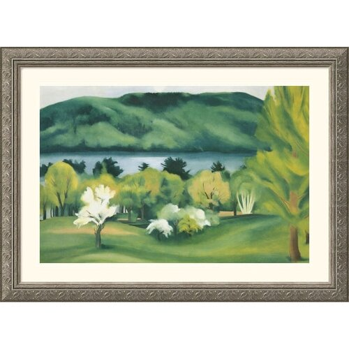 Museum Reproductions 'Lake George Early Moonrise' by Georgia O'Keeffe Framed Painting Print