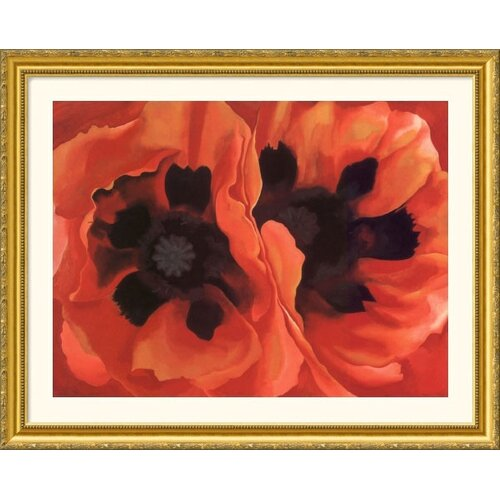 Museum Reproductions 'Oriental Poppies, 1928' by Georgia O'Keeffe Framed Painting Print