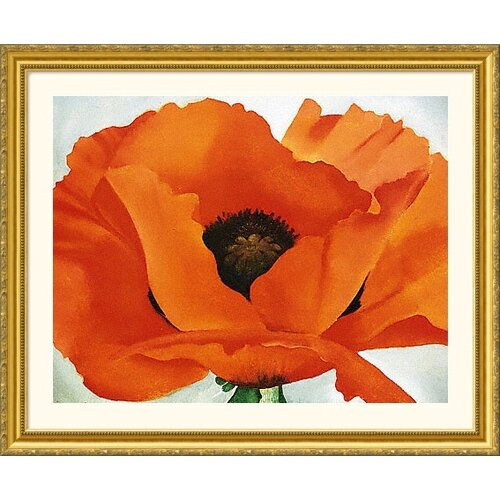 Great American Picture Museum Reproductions 'Poppy' by Georgia O'Keeffe Framed Painting Print