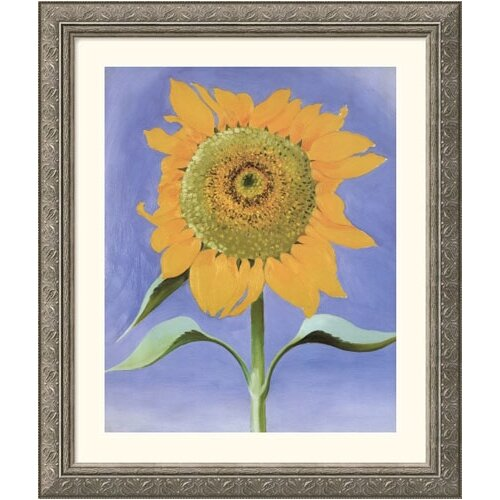Museum Reproductions 'Sunflower, New Mexico, 1935' by Georgia O'Keeffe Framed Painting Print
