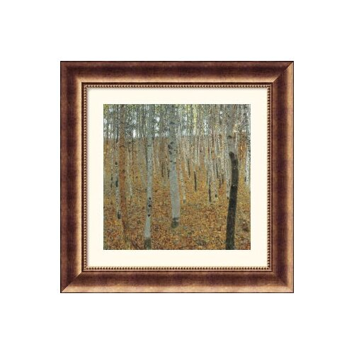 Great American Picture Museum Reproductions 'Birch Forest' by Gustav Klimt Framed Painting Print
