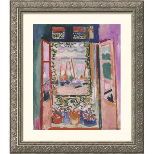 Great American Picture Museum Reproductions 'Open Window, Collioure, 1905' by Henri Matisse Framed Painting Print