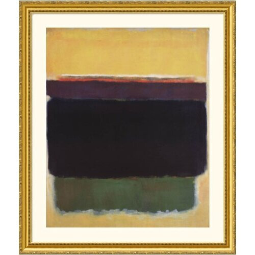 Great American Picture Museum Reproductions 'Untitled, 1949' by Mark Rothko Framed Painting Print