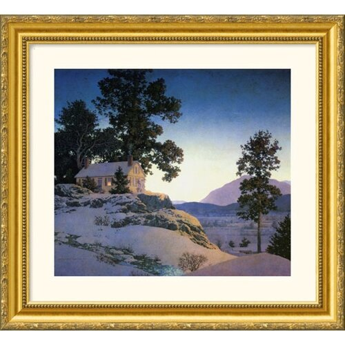 Great American Picture Museum Reproductions 'Evening (Winterscape), 1953' by Maxfield Parrish Framed Photographic Print