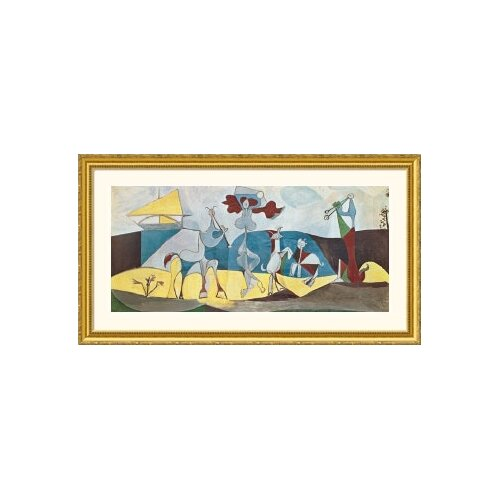 Great American Picture Museum Reproductions 'La joie de vivre (Joy in Life)' by Pablo Picasso Framed Painting Print
