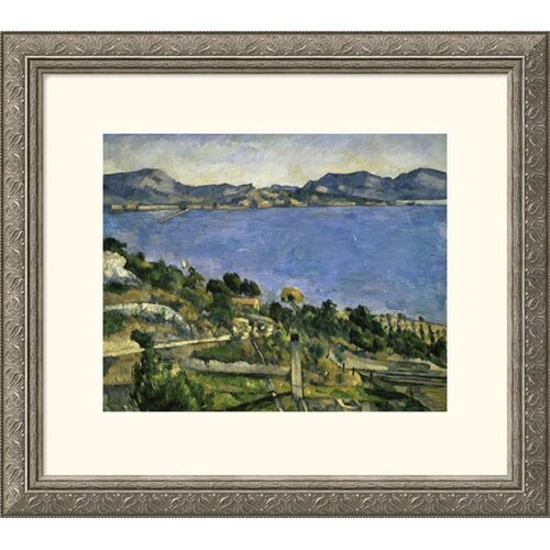 Great American Picture Museum Reproductions L'Estaque by Paul Cezanne Framed Painting Print