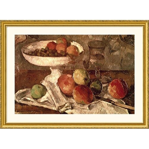 Great American Picture Museum Reproductions 'Still Life' by Paul Cezanne Framed Painting Print