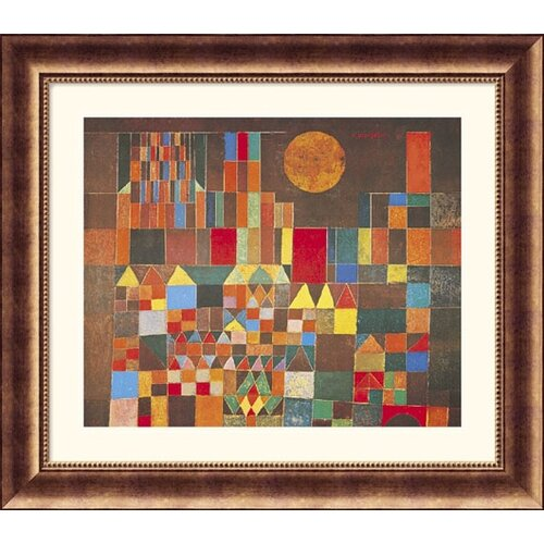 Great American Picture Museum Reproductions Castle and Sun by Paul Klee Framed Painting Print