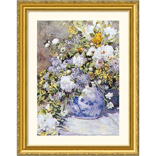 Great American Picture Museum Reproductions 'Vase de Fleur' by Pierre Auguste Renoir Framed Painting Print