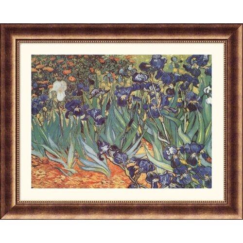 Museum Reproductions Les Irises (Irises) by Vincent Van Gogh Framed Painting Print